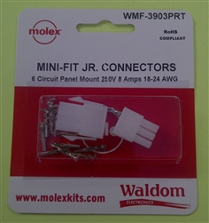 MOLEX LOCKING CONNECTOR PKG PANEL 6-POLE WMF3903PRT