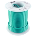 NTE 18AWG GREEN TEFLON HOOKUP WIRE (25 FEET) WT18-05-25     200C/600V SILVER PLATED COPPER/SPC