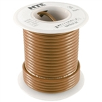 NTE 22AWG BROWN TEFLON HOOKUP WIRE (25 FEET) WT22-01-25     200C/600V SILVER PLATED COPPER/SPC