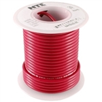 NTE H/U WIRE TEFLON TYPE 22 AWG RED 25 FEET WT22-02-25      200C/600V SILVER PLATED COPPER/SPC