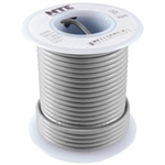 NTE 22AWG GRAY TEFLON HOOKUP WIRE (25 FEET) WT22-08-25      200C/600V SILVER PLATED COPPER/SPC