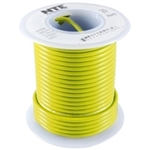 NTE 24AWG YELLOW TEFLON HOOKUP WIRE (25 FEET) WT24-04-25    200C/600V SILVER PLATED COPPER/SPC